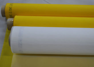 "45"" White 160 Mesh Screen Polyester Printing For Glass / Ceramic ,  FDA Listed"