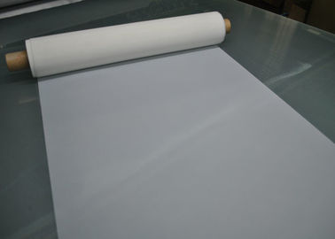 High Precision Polyester Silk  Screen Printing Mesh White For Glass Printing