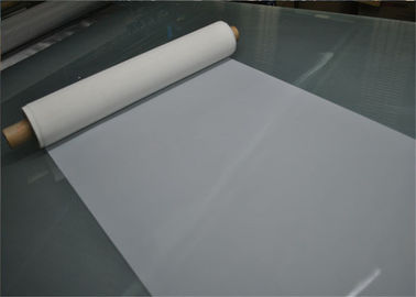 High Tensile 120 Mesh Polyester Printing Mesh With Acid Resistant , White Color